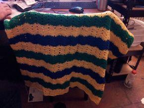 Hand made crocheted blanket